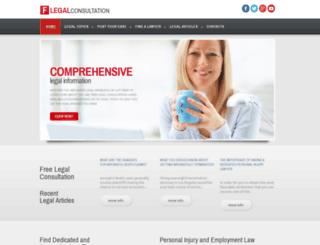 freelegalconsultation.us screenshot