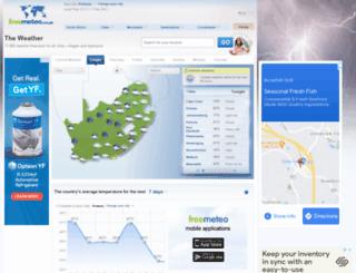 freemeteo.co.za screenshot