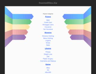 freemidifiles.biz screenshot