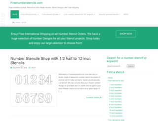freenumberstencils.com screenshot