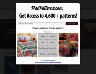 freepatterns.com screenshot