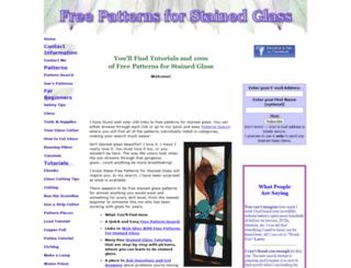 freepatternsforstainedglass.com screenshot