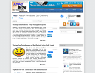 freepctophonecalls.blogspot.com screenshot