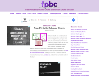 freeprintablebehaviorcharts.com screenshot