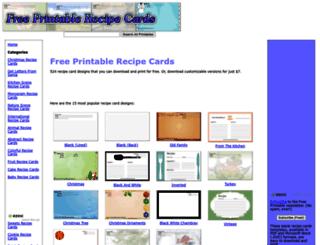 freeprintablerecipecards.net screenshot