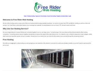freeriderwebhosting.com screenshot
