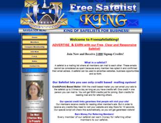 freesafelistking.com screenshot