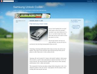 freesamsungunlockcodes.blogspot.com screenshot