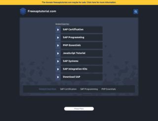 freesaptutorial.com screenshot