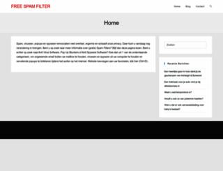freespamfilter.nl screenshot