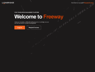 freeway.lionbridge.com screenshot