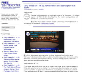 freewhitewater.com screenshot
