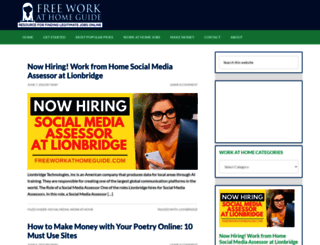 freeworkathomeguide.com screenshot