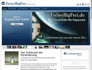 freiwilligfrei.de screenshot