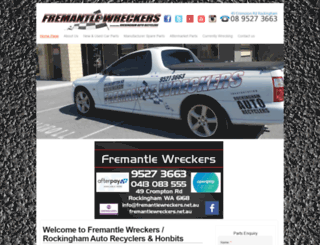 fremantlewreckers.net.au screenshot