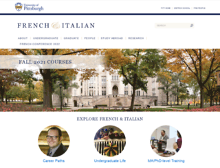 frenchanditalian.pitt.edu screenshot