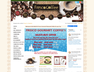 frescogourmetcoffee.co.uk screenshot