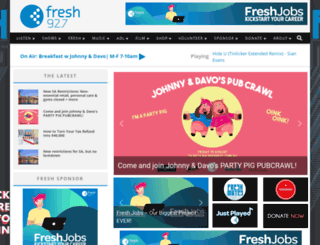fresh927.com.au screenshot