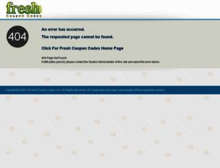 freshcouponcodes.com screenshot