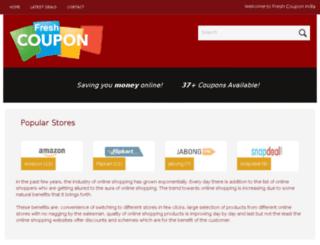 freshcouponindia.com screenshot