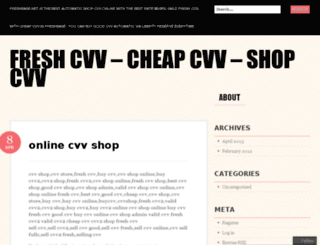 freshcvvshop.wordpress.com screenshot