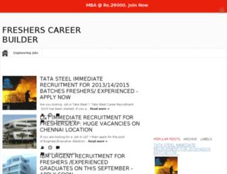 fresherscareerbuilder.com screenshot