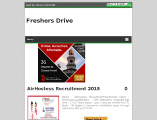 freshersdrive.net screenshot