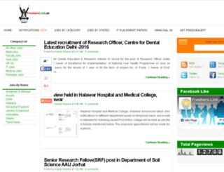 fresherslink.in screenshot