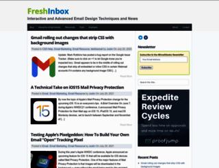 freshinbox.com screenshot
