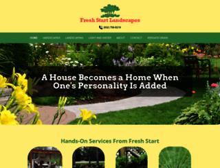 freshstartlandscapes.com screenshot