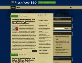 freshwebseo.com screenshot