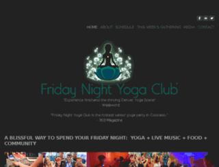 fridaynightyogaclub.com screenshot