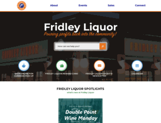 fridleyliquor.com screenshot
