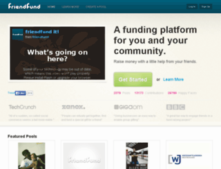 friendfund.com screenshot