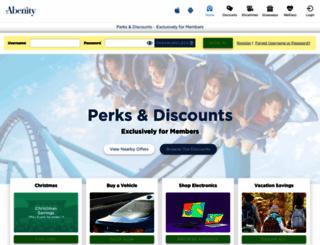 friends.abenity.com screenshot