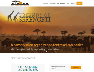 friendsofserengeti.org screenshot