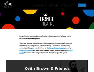 fringetheatreadventures.ca screenshot