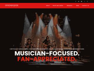 frontandcenter.com screenshot