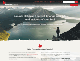 frontier-canada.co.uk screenshot