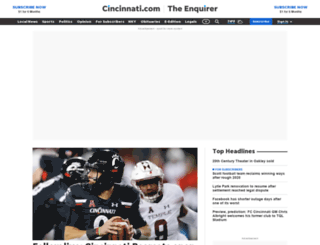 frontier.cincinnati.com screenshot
