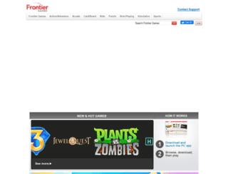 frontiergames.com screenshot