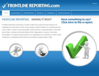 frontlinereporting.com screenshot