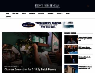 frontporchnewstexas.com screenshot