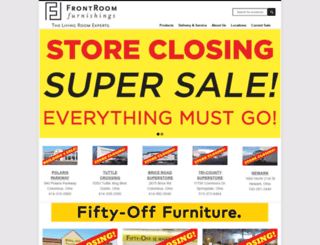 frontroomfurnishings.com screenshot