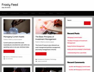 frostyfeed.com screenshot