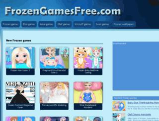 frozengamesfree.com screenshot
