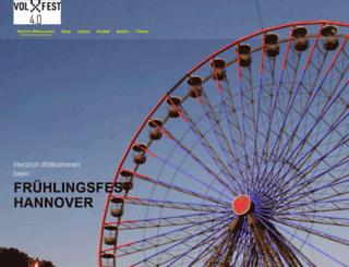 fruehlingsfest-hannover.de screenshot