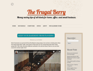 frugalberry.com screenshot