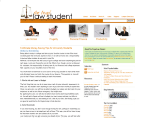 frugallawstudent.com screenshot