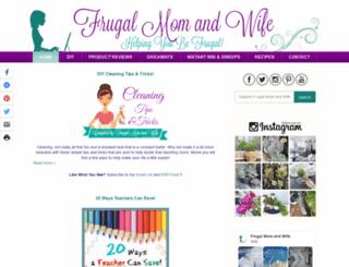 frugalmomandwife.com screenshot
